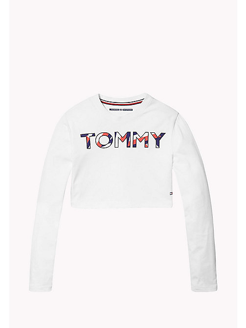 TOMMY HILFIGER KIDS SPORTS BERYL CROPPED TOP LS - CLASSIC WHITE - TOMMY HILFIGER Sports Capsule - image principale