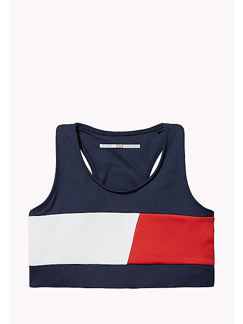 TOMMY HILFIGER KIDS SPORTS BEKKI CLR BLOCK BRA TOP - SKY CAPTAIN / MULTI - TOMMY HILFIGER Sports Capsule - image principale