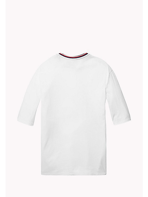 TOMMY HILFIGER KIDS SPORTS BEKKI CLR BLOCK TEE - CLASSIC WHITE / MULTI - TOMMY HILFIGER Sports Capsule - detail image 1