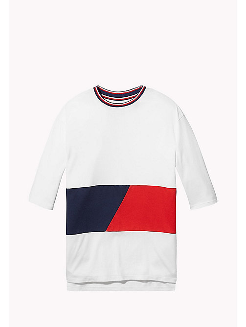 TOMMY HILFIGER KIDS SPORTS BEKKI CLR BLOCK TEE - CLASSIC WHITE / MULTI - TOMMY HILFIGER Sports Capsule - main image