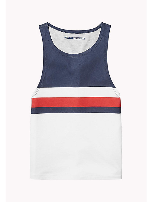 TOMMY HILFIGER KIDS SPORTS CHERI TANK TOP - CLASSIC WHITE/MULTI - TOMMY HILFIGER Sports Capsule - main image