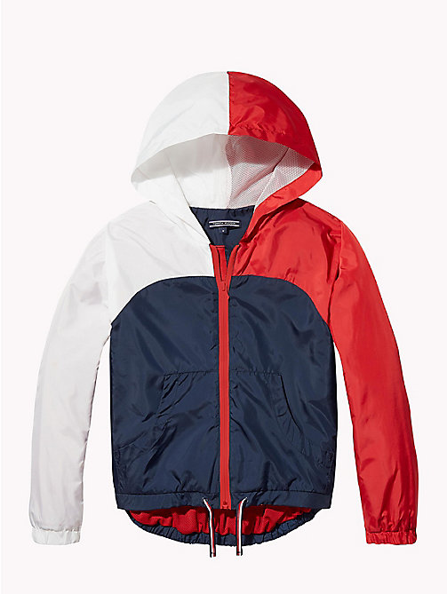 TOMMY HILFIGER KIDS SPORTS WINDBREAKER - SKY CAPTAIN/MULTI - TOMMY HILFIGER Sports Capsule - main image