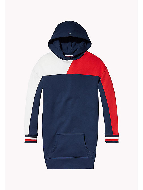 TOMMY HILFIGER KIDS SPORTS BEKKI CLR BLOCK DRESS - SKY CAPTAIN / MULTI - TOMMY HILFIGER Sports Capsule - main image