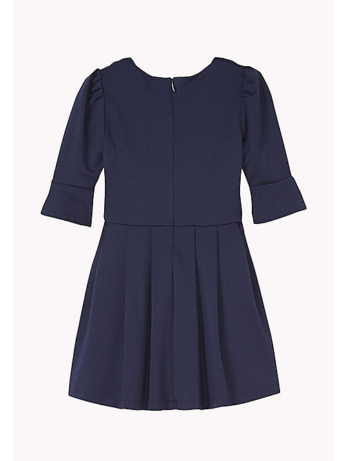 TOMMY HILFIGER Pleated Skater Dress - BLACK IRIS - TOMMY HILFIGER Girls - detail image 1