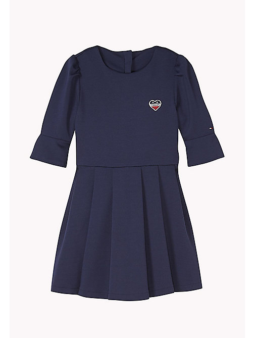 TOMMY HILFIGER Robe patineuse plissée - BLACK IRIS - TOMMY HILFIGER Robes - image principale