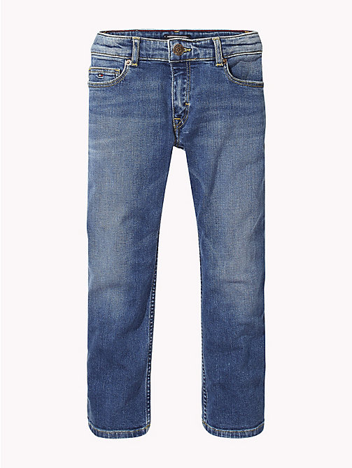 TOMMY HILFIGER Cropped Straight Fit Jeans - NEW YORK MID STRETCH - TOMMY HILFIGER Girls - main image