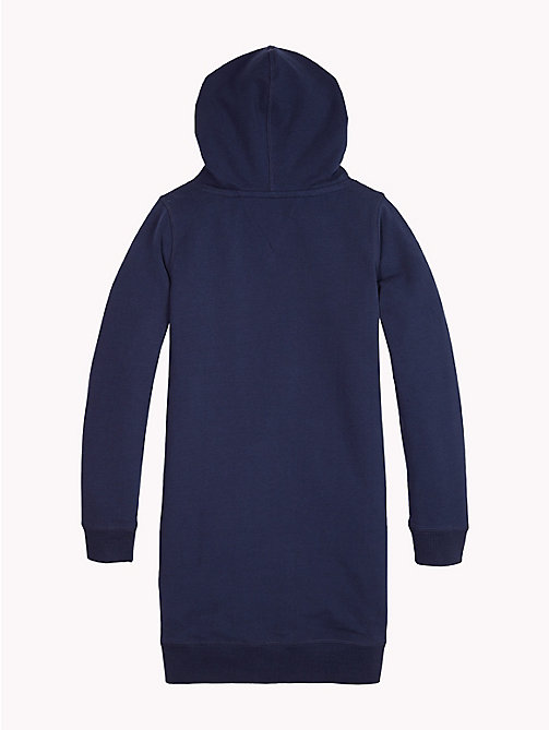 TOMMY HILFIGER Logo Hoody Dress - BLACK IRIS - TOMMY HILFIGER Girls - detail image 1