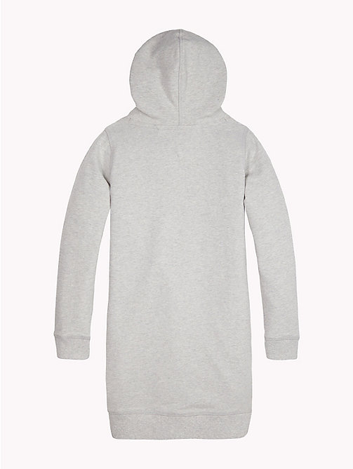 TOMMY HILFIGER Logo Hoody Dress - GREY HEATHER - TOMMY HILFIGER Girls - detail image 1