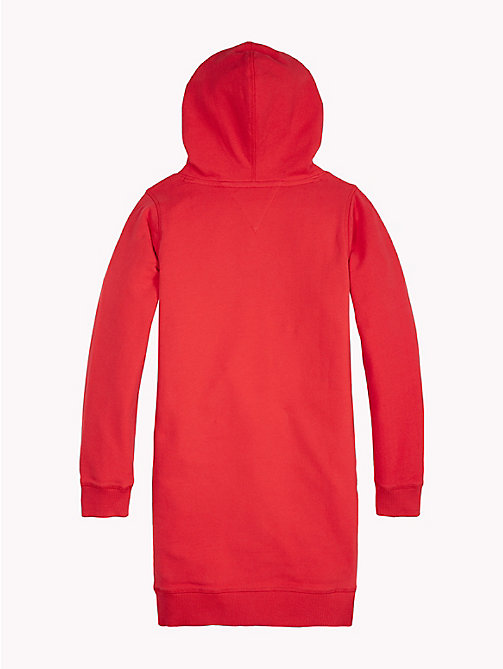 TOMMY HILFIGER Logo Hoody Dress - TRUE RED - TOMMY HILFIGER Dresses - detail image 1