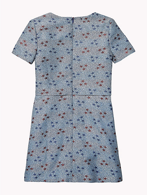 TOMMY HILFIGER Star Print Short Sleeve Dress - MAZARINE BLUE / MULTI - TOMMY HILFIGER Dresses - detail image 1