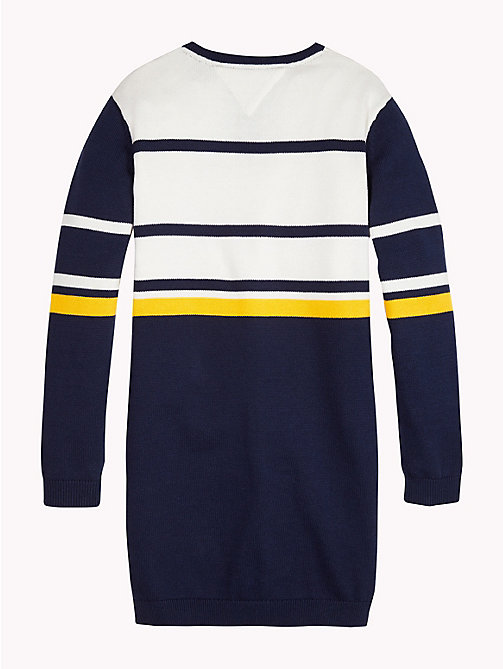 TOMMY HILFIGER Stripe Print Cotton Dress - BLACK IRIS / MULTI - TOMMY HILFIGER Girls - detail image 1