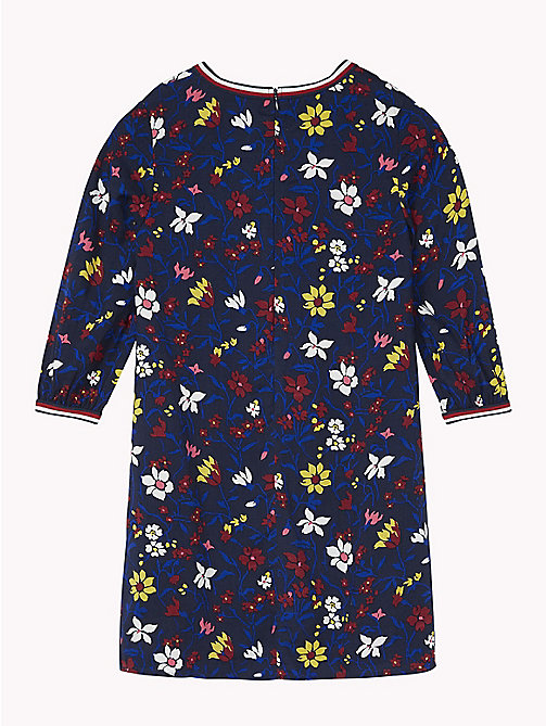TOMMY HILFIGER Floral Print Dress - BLACK IRIS / MULTI - TOMMY HILFIGER Dresses - detail image 1