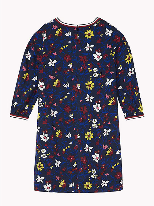 TOMMY HILFIGER Floral Print Dress - BLACK IRIS / MULTI - TOMMY HILFIGER Girls - detail image 1