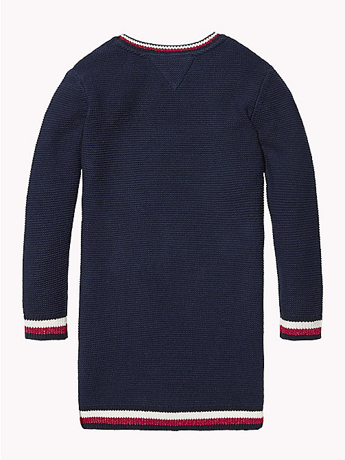 TOMMY HILFIGER Signature Tape Jumper Dress - BLACK IRIS - TOMMY HILFIGER Girls - detail image 1
