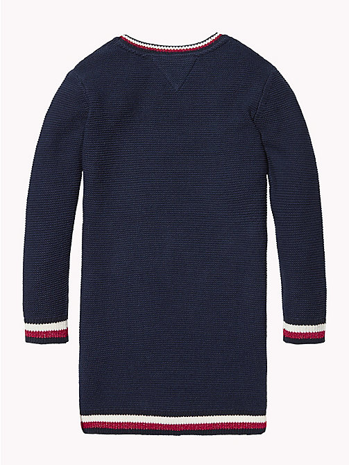 TOMMY HILFIGER Signature Tape Jumper Dress - BLACK IRIS - TOMMY HILFIGER Dresses - detail image 1