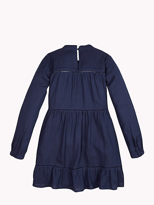 TOMMY HILFIGER Frill Hem Dress - BLACK IRIS - TOMMY HILFIGER Girls - detail image 1