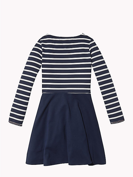 TOMMY HILFIGER Breton Stripe Dress - BLACK IRIS / SNOW WHITE - TOMMY HILFIGER Girls - detail image 1