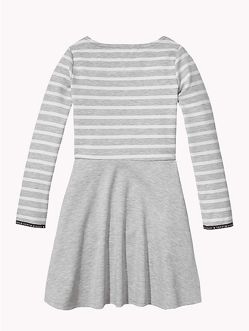 TOMMY HILFIGER Breton Stripe Dress - GREY HEATHER/SNOW WHITE - TOMMY HILFIGER Dresses - detail image 1