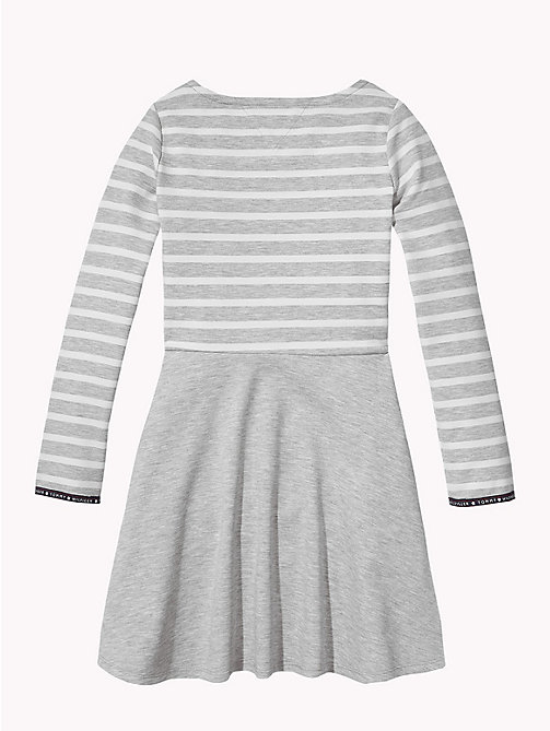 TOMMY HILFIGER Breton Stripe Dress - GREY HEATHER/SNOW WHITE - TOMMY HILFIGER Girls - detail image 1