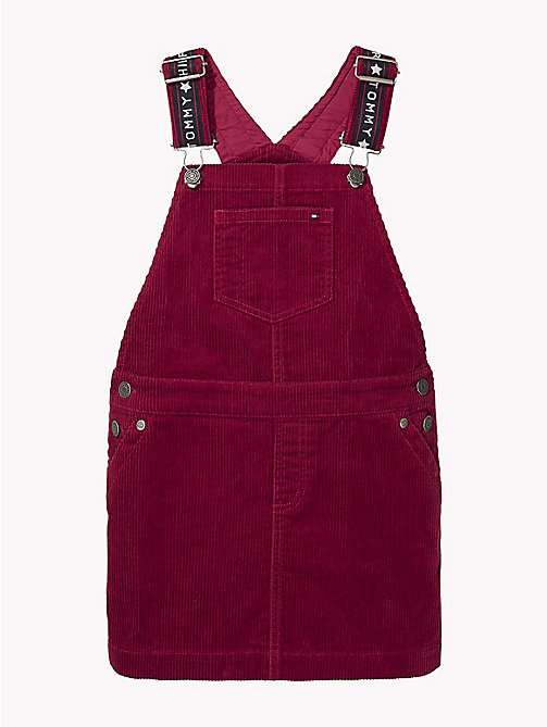 TOMMY HILFIGER Corduroy Dungaree Dress - RUMBA RED - TOMMY HILFIGER Girls - main image
