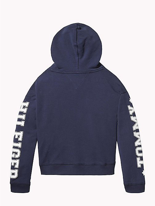 TOMMY HILFIGER Logo Sleeve Hoody - BLACK IRIS - TOMMY HILFIGER Girls - detail image 1