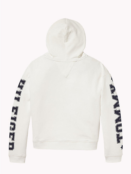 TOMMY HILFIGER Logo Sleeve Hoody - SNOW WHITE - TOMMY HILFIGER Sweatshirts & Hoodies - detail image 1