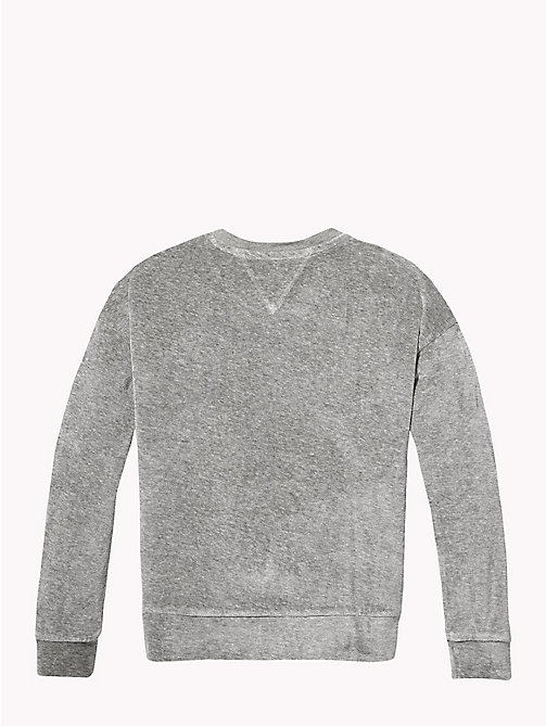 TOMMY HILFIGER Sweatshirt met paillettenlogo - GREY HEATHER - TOMMY HILFIGER Meisjes - detail image 1