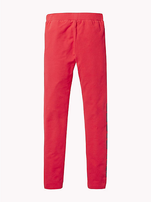 TOMMY HILFIGER Logo Leggings - TRUE RED - TOMMY HILFIGER Trousers, Shorts & Skirts - detail image 1
