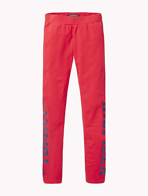 TOMMY HILFIGER Logo Leggings - TRUE RED - TOMMY HILFIGER Girls - main image