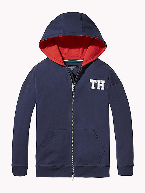 TOMMY HILFIGER Monogram Hoody - BLACK IRIS - TOMMY HILFIGER Girls - main image