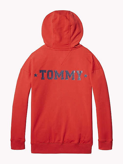 TOMMY HILFIGER Худи с монограммой - TRUE RED - TOMMY HILFIGER Свитшоты и худи - подробное изображение 1