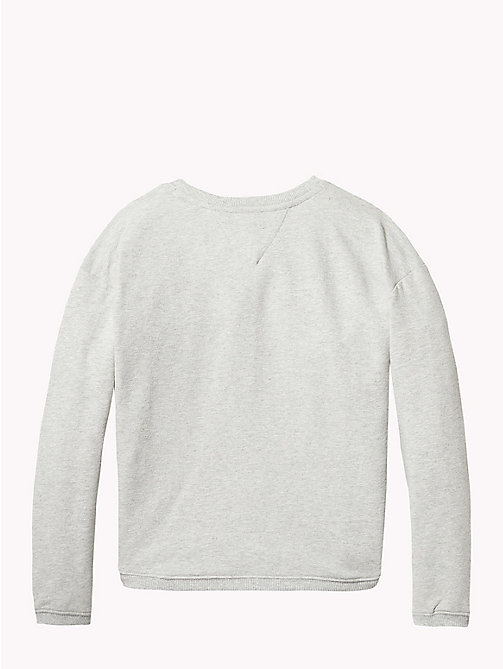 TOMMY HILFIGER Sweatshirt met folieprint - GREY HEATHER - TOMMY HILFIGER Meisjes - detail image 1