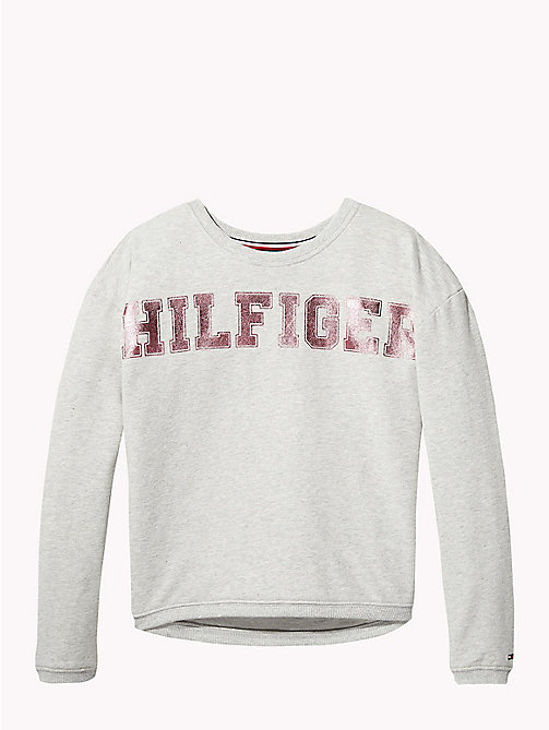 TOMMY HILFIGER Foil Print Logo Sweatshirt - GREY HEATHER - TOMMY HILFIGER Sweatshirts & Hoodies - main image