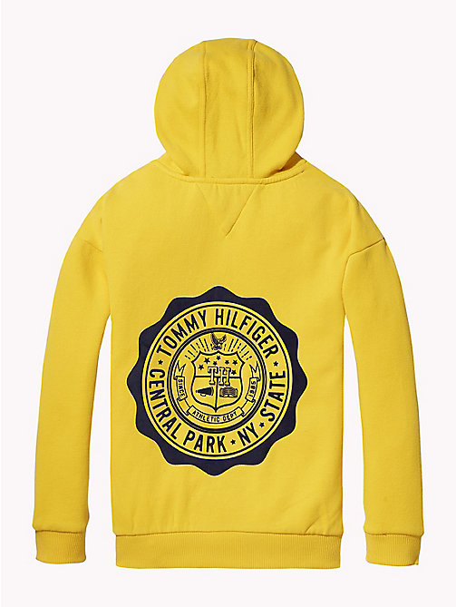 TOMMY HILFIGER College Logo Hoody - SPECTRA YELLOW - TOMMY HILFIGER Sweatshirts & Hoodies - detail image 1