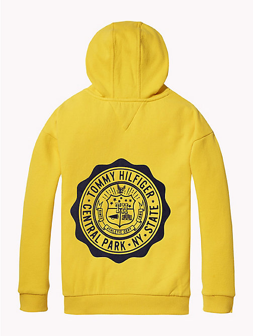TOMMY HILFIGER College Logo Hoody - SPECTRA YELLOW - TOMMY HILFIGER Girls - detail image 1