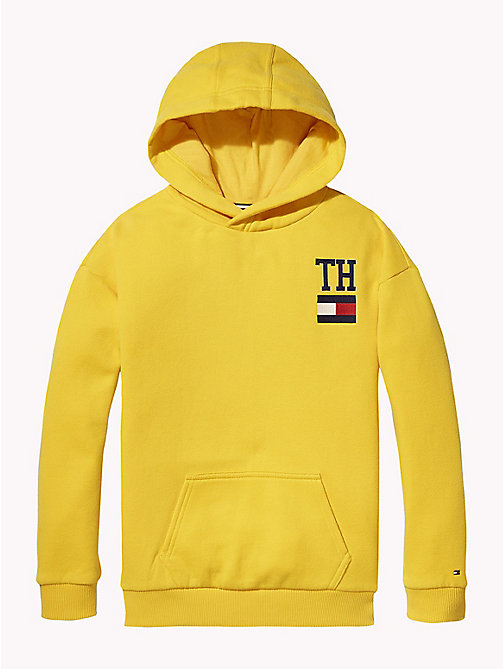 TOMMY HILFIGER College Logo Hoody - SPECTRA YELLOW - TOMMY HILFIGER Girls - main image
