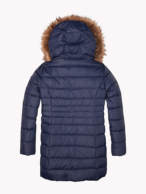 TOMMY HILFIGER Detachable Hood Quilted Coat - BLACK IRIS - TOMMY HILFIGER Girls - detail image 1
