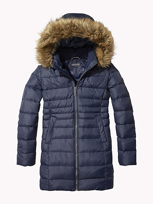 TOMMY HILFIGER Detachable Hood Quilted Coat - BLACK IRIS - TOMMY HILFIGER Girls - main image