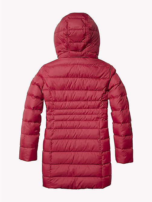 TOMMY HILFIGER Detachable Hood Quilted Coat - RUMBA RED - TOMMY HILFIGER Coats & Jackets - detail image 1