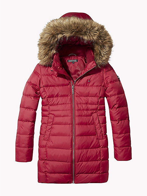 TOMMY HILFIGER Detachable Hood Quilted Coat - RUMBA RED - TOMMY HILFIGER Coats & Jackets - main image