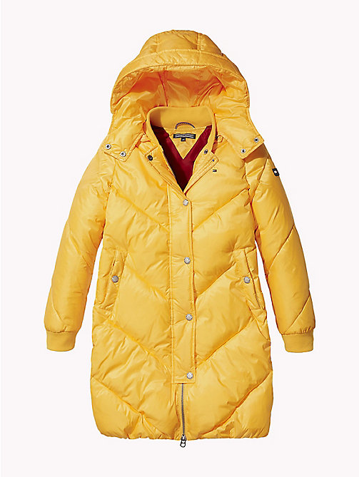 TOMMY HILFIGER Chevron Stitch Long Coat - SPECTRA YELLOW -  Coats & Jackets - main image