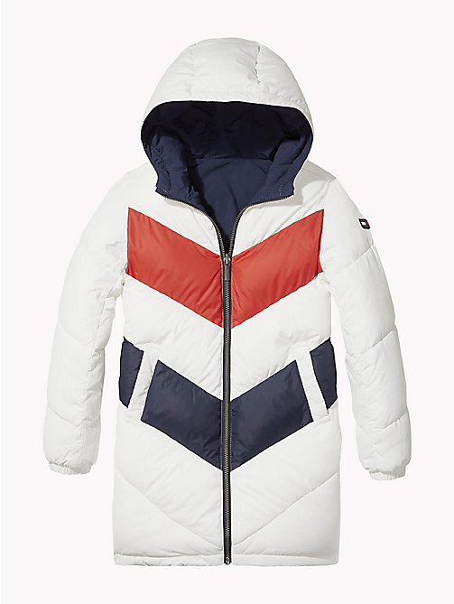 TOMMY HILFIGER Reversible Colour-Blocked Parka - BLACK IRIS - TOMMY HILFIGER Girls - main image