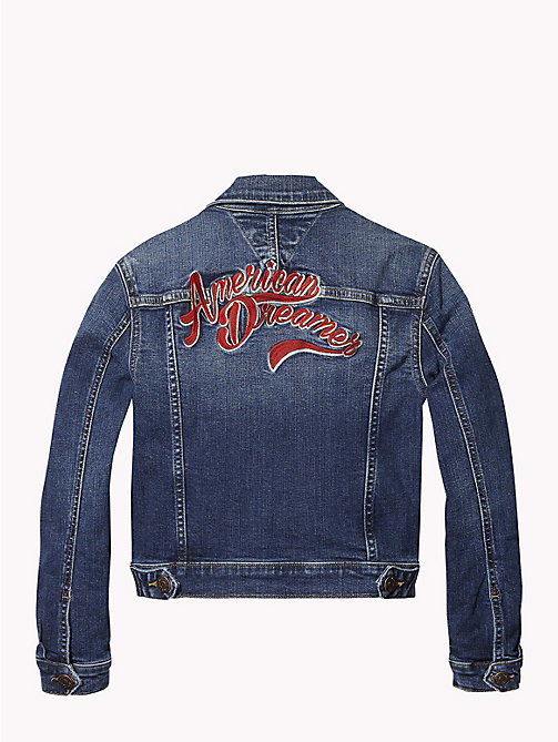 TOMMY HILFIGER American Dreamer Denim Jacket - FOREST MID BLUE STRETCH - TOMMY HILFIGER Girls - detail image 1