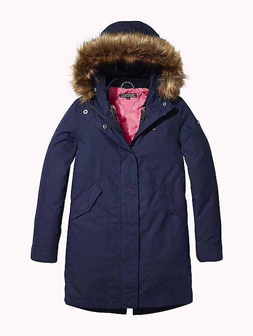 TOMMY HILFIGER 2-in-1 Long Parka - BLACK IRIS - TOMMY HILFIGER Girls - main image