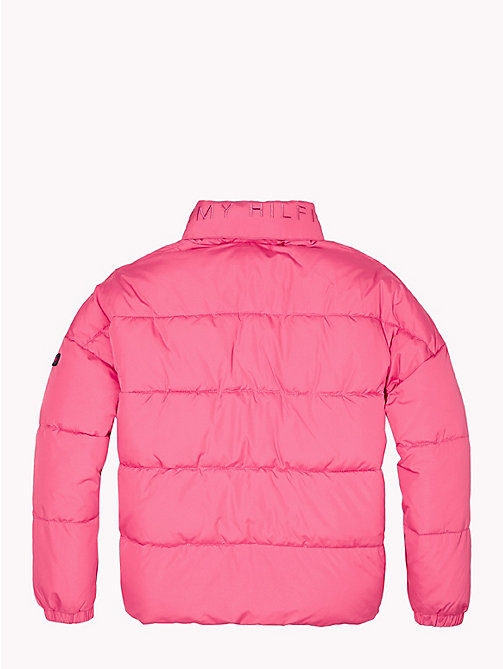 TOMMY HILFIGER Concealed Hood Puffer Jacket - PINK FLAMBE - TOMMY HILFIGER Coats & Jackets - detail image 1