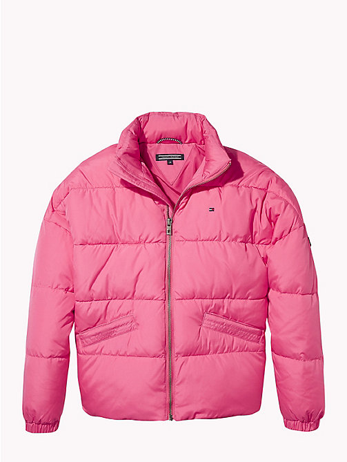 TOMMY HILFIGER Concealed Hood Puffer Jacket - PINK FLAMBE - TOMMY HILFIGER Coats & Jackets - main image