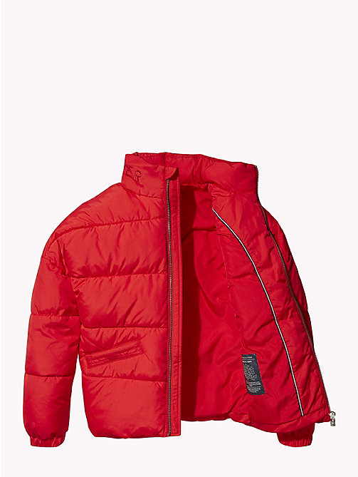 TOMMY HILFIGER Concealed Hood Puffer Jacket - TRUE RED - TOMMY HILFIGER Girls - detail image 1