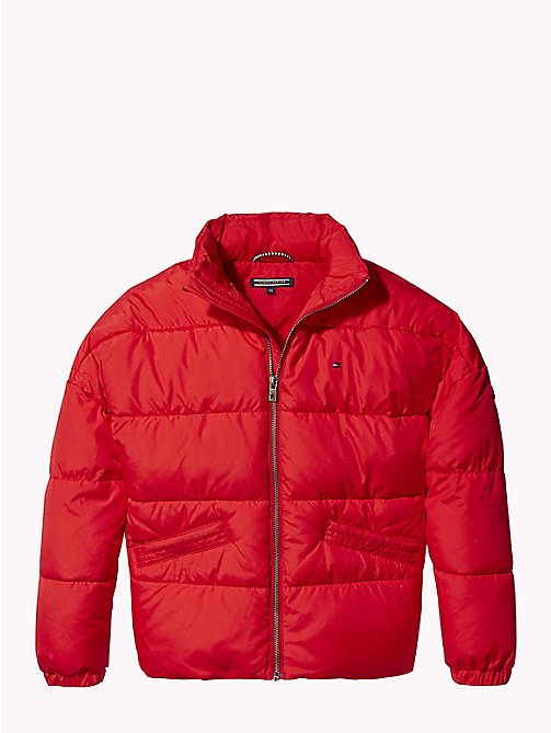 TOMMY HILFIGER Concealed Hood Puffer Jacket - TRUE RED - TOMMY HILFIGER Coats & Jackets - main image