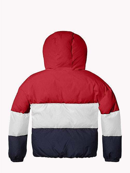 TOMMY HILFIGER Colour-Blocked Puffer Jacket - SNOW WHITE/TRUE RED/BLACK IRIS - TOMMY HILFIGER Coats & Jackets - detail image 1