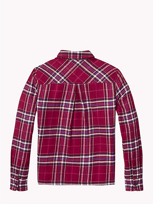 TOMMY HILFIGER Check Print Cotton Shirt - RUMBA RED/MULTI - TOMMY HILFIGER Tops & T-shirts - detail image 1